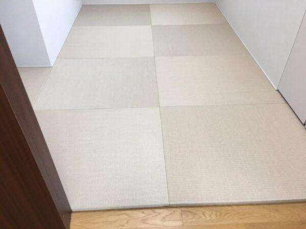 洋室から和室に 琉球和紙フローリング畳敷き詰め(新宿区)