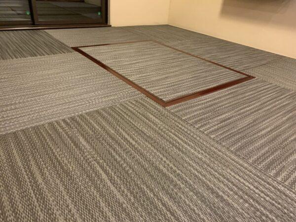 練馬区 琉球畳 和紙穂波04市松敷き 施工例